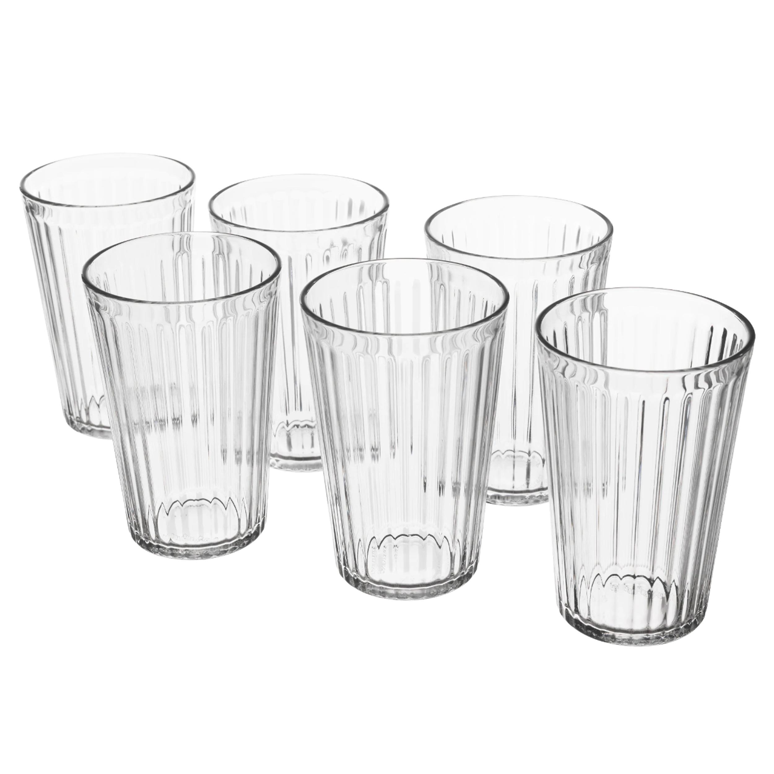 لیوان نوشیدنی کریستال ایکیا مدل VARDAGEN  بسته 6 عددی