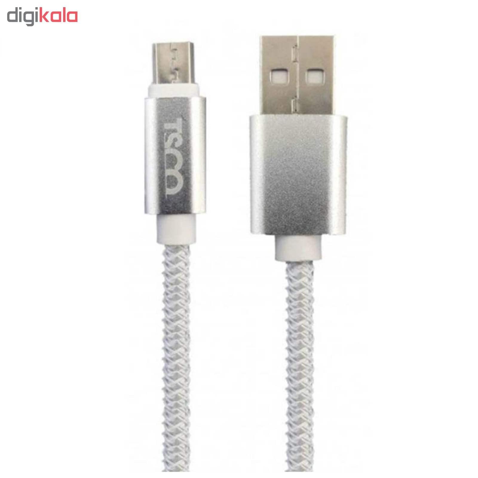 کابل تبدیل USB به microUSB تسکو مدل TC 51N طول 0.2 متر  TSCO TC 51N USB to microUSB Cable 0.2 m