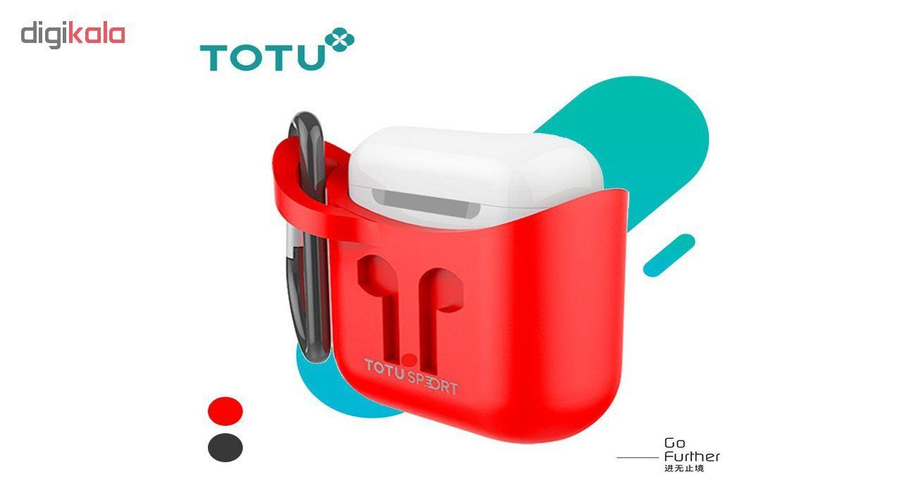 کاور توتواسپورت مدل  CRG01 مناسب برای کیس اپل Airpod main 1 2