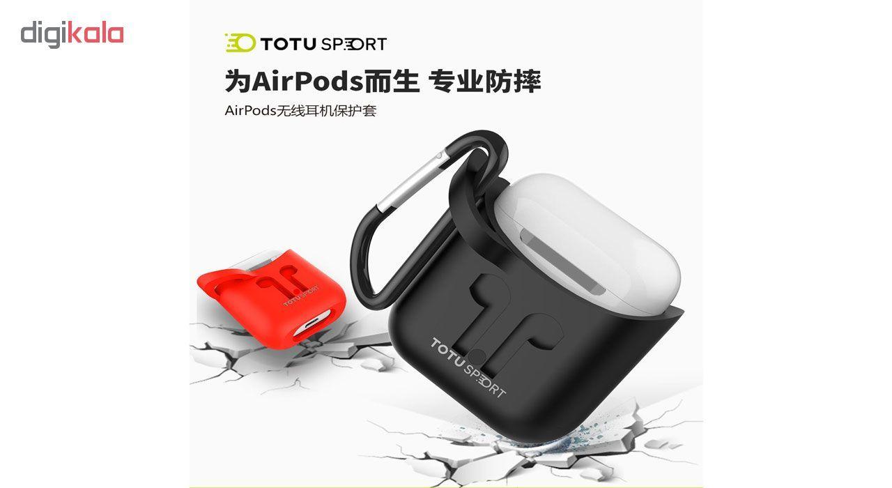 کاور توتواسپورت مدل  CRG01 مناسب برای کیس اپل Airpod main 1 3