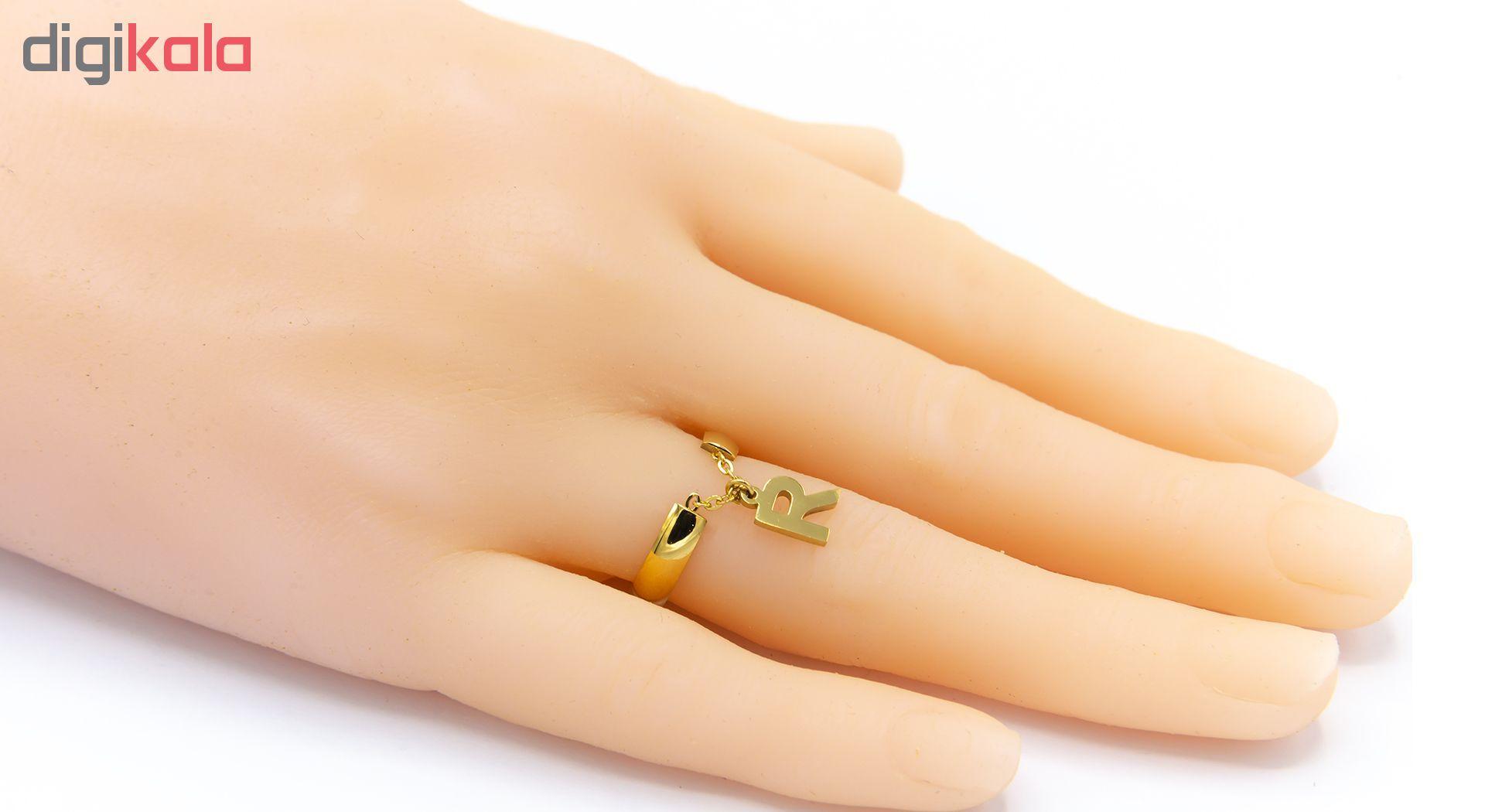 انگشتر زنانه بهارگالری طرح حرف R main 1 4