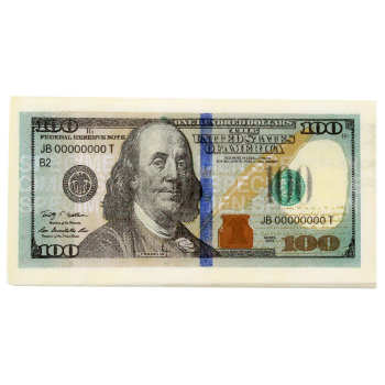 دستمال سفره طرح 100 دلار بسته 10 عددی