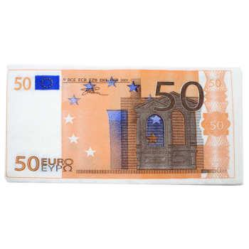 دستمال سفره طرح 50 یورو بسته 10 عددی