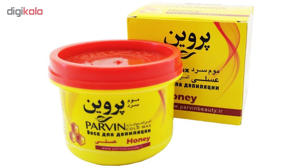 موم سرد پروین مدل Honey حجم 300 گرم همراه با کاردک، پد و کرم نرم کننده و مرطوب کننده  main 1 1