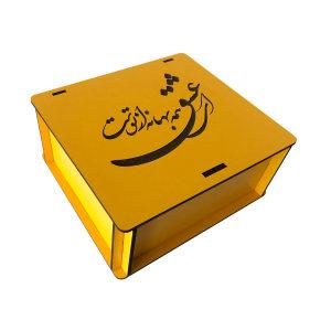 جعبه هدیه چوبی مدل j153