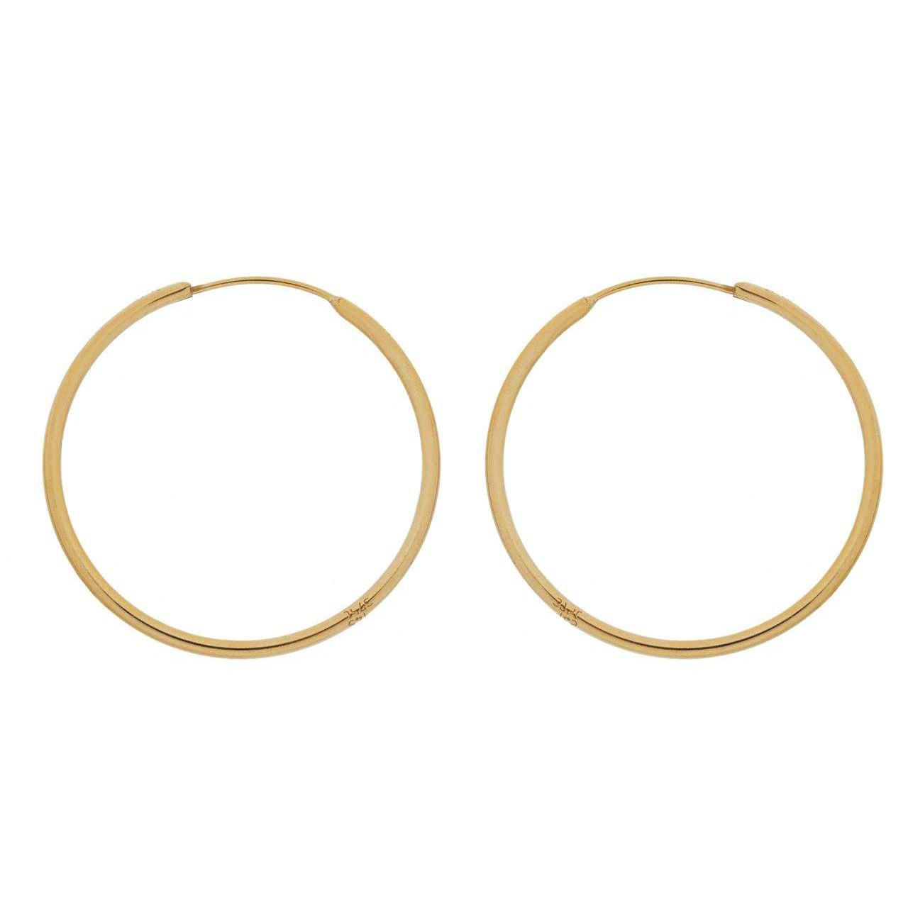 گوشواره طلا 18 عیار گالری گل سرخ مدل 100 |