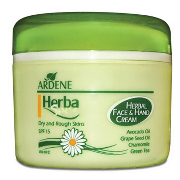قیمت کرم مرطوب کننده دست و صورت آردن Herba Sense SPF15 حجم 150 میلی لیتر
