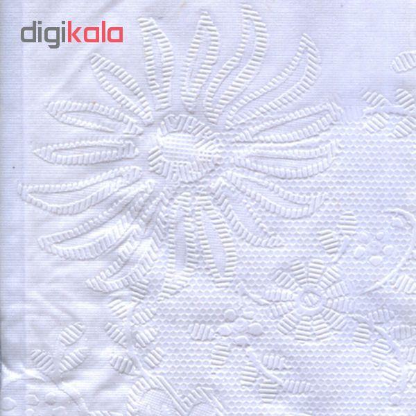 سفره امیلی مدلT.1-110B1 ابعاد 91*91 سانتی متر رنگ سفید