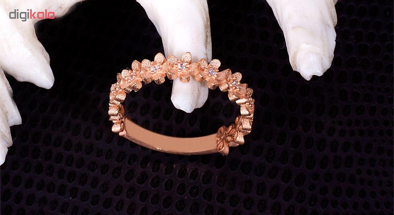 انگشتر طلا 18 عیار گالری مرجان مدل 0848