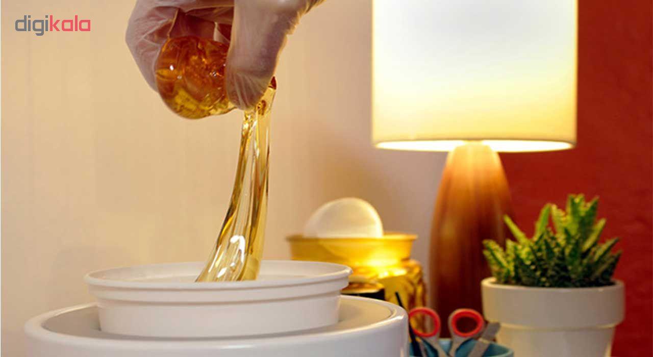 موم سرد پروین مدل Honey حجم 300 گرم همراه با کاردک، پد و کرم نرم کننده و مرطوب کننده  main 1 13