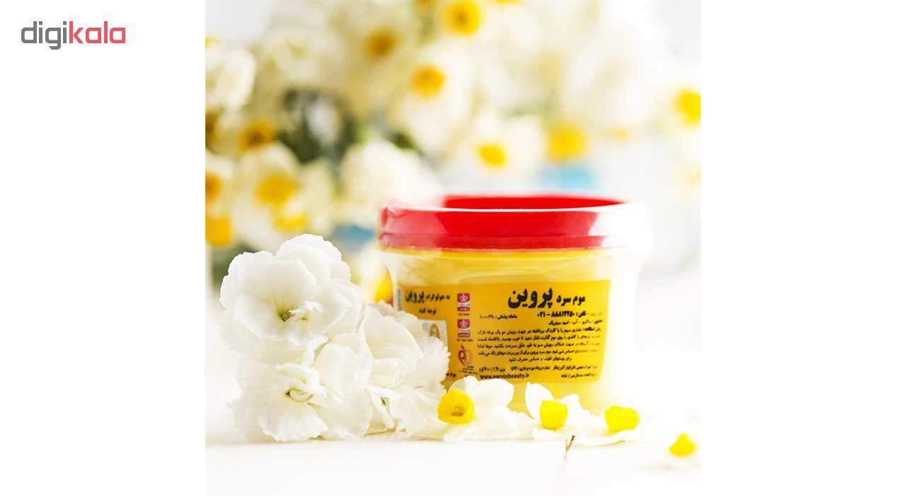 موم سرد پروین مدل Honey حجم 300 گرم همراه با کاردک، پد و کرم نرم کننده و مرطوب کننده  main 1 14