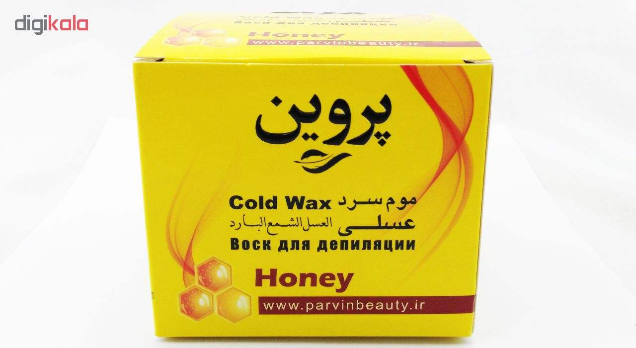 موم سرد پروین مدل Honey حجم 300 گرم همراه با کاردک، پد و کرم نرم کننده و مرطوب کننده بسته 4 عددی main 1 4