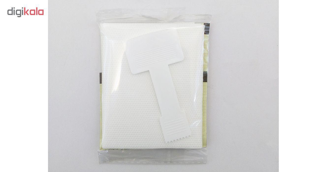 موم سرد پروین مدل Honey حجم 300 گرم همراه با کاردک، پد و کرم نرم کننده و مرطوب کننده بسته 4 عددی main 1 8