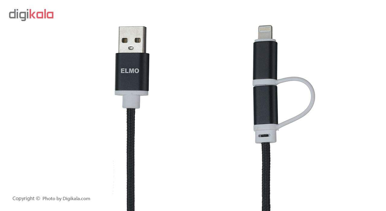 کابل  شارژ، انتقال اطلاعات و تبدیل USB به لایتنینگ/MicroUSB المو مدل X-T-N طول 1 متر main 1 7