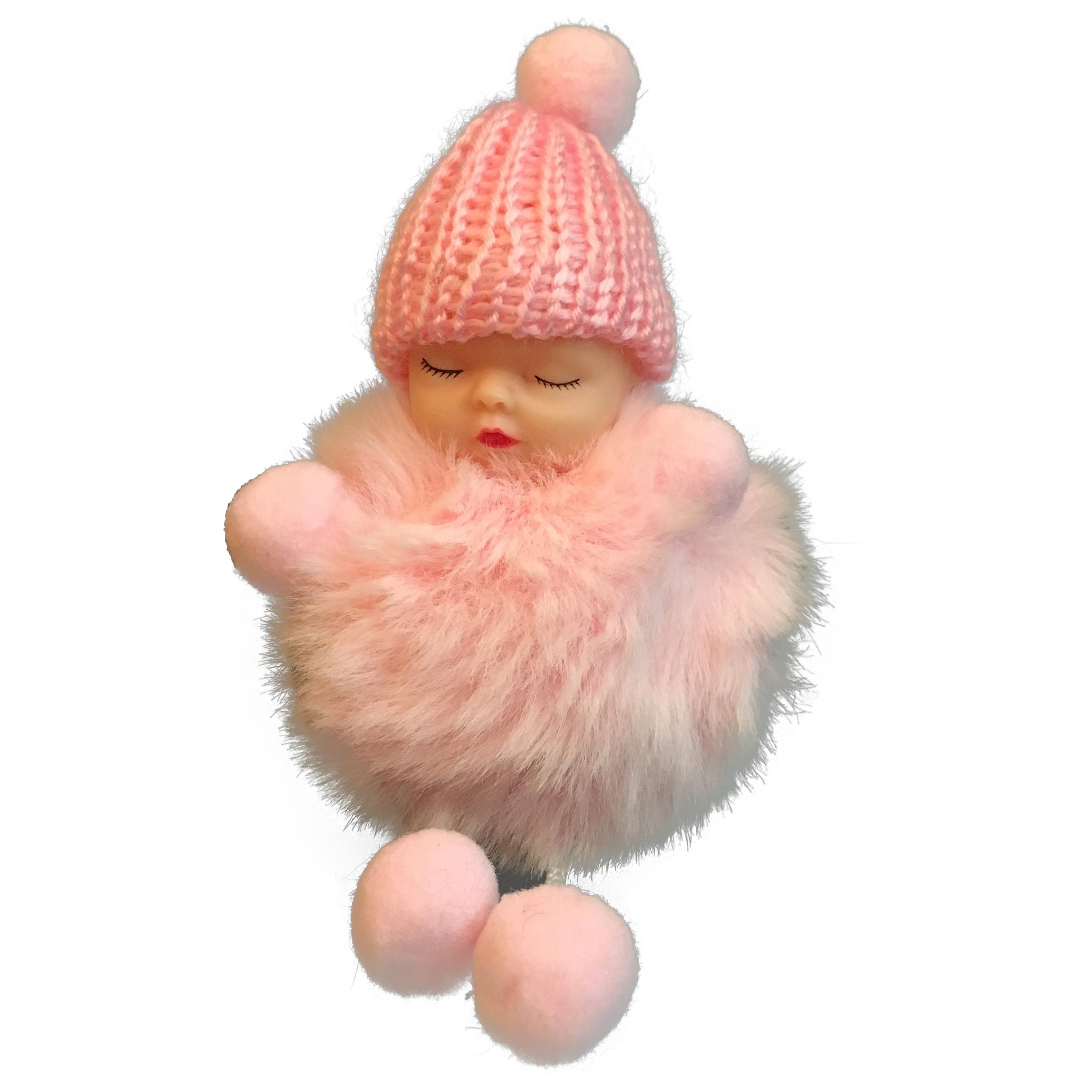 جاسوئیچی عروسکی مدل نوزاد لباس پشمالو