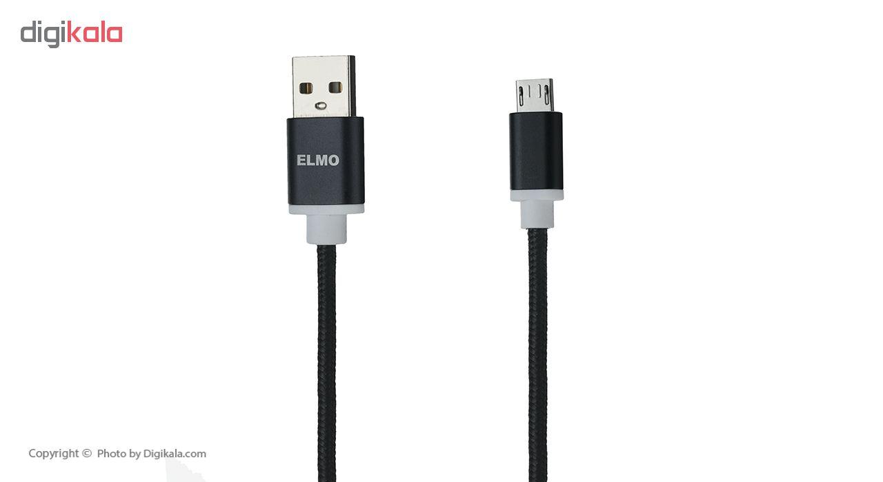 کابل  شارژ، انتقال اطلاعات و تبدیل USB به MicroUSB  المو مدل  X-S-N طول 1 متر main 1 8