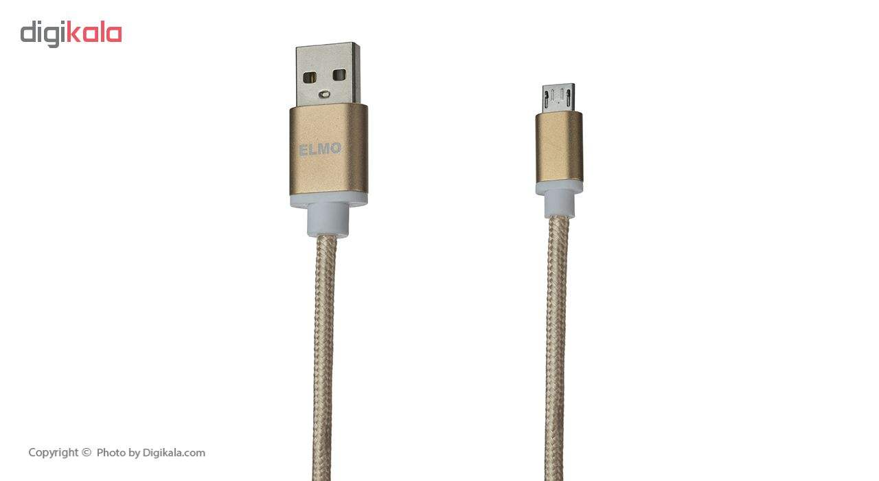 کابل  شارژ، انتقال اطلاعات و تبدیل USB به MicroUSB  المو مدل  X-S-N طول 1 متر main 1 9