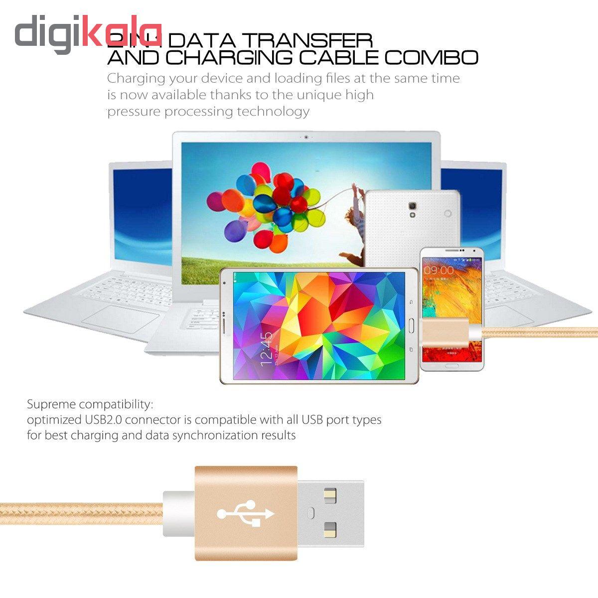 کابل شارژ، انتقال اطلاعات و تبدیل USB به لایتنینگ المو مدل  X-I-N طول 1 متر main 1 2