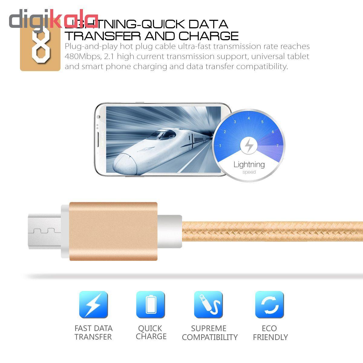کابل شارژ، انتقال اطلاعات و تبدیل USB به لایتنینگ المو مدل  X-I-N طول 1 متر main 1 3