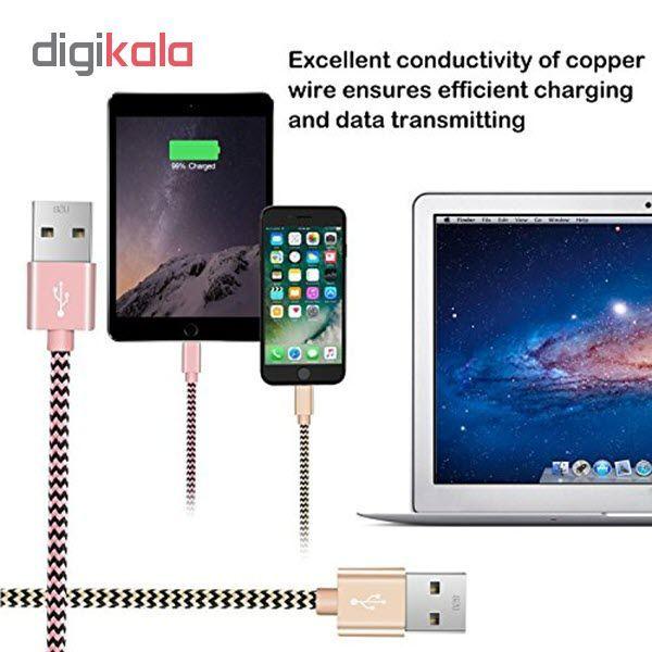 کابل شارژ، انتقال اطلاعات و تبدیل USB به لایتنینگ المو مدل  X-I-N طول 1 متر main 1 4