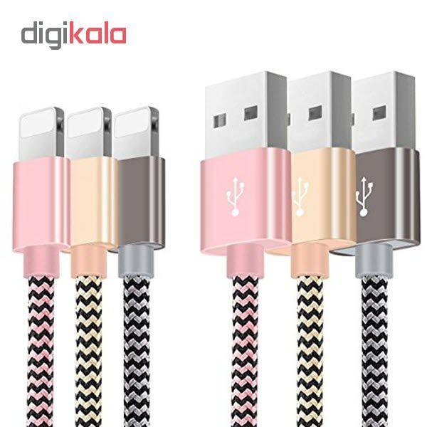 کابل شارژ، انتقال اطلاعات و تبدیل USB به لایتنینگ المو مدل  X-I-N طول 1 متر main 1 1