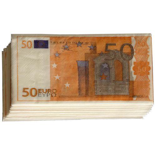دستمال کاغذی جیبی طرح یورو 20 برگ