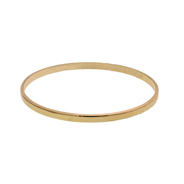 قیمت النگو طلا 18 عیار کالری گل سرخ مدل AN6003