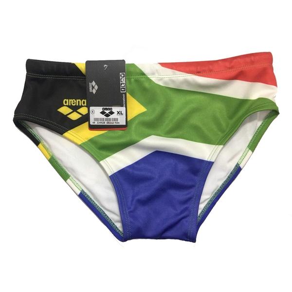 تصویر مایو مردانه آرنا طرح پرچم آفریقای جنوبی کد 1070