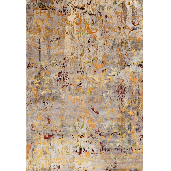 فرش ماشینی فرش ابریشمی کرامتیان طرح آرتینه کد 5918