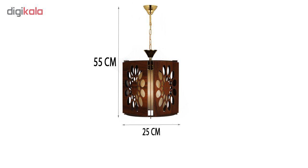 چراغ آویز و لوستر چوبی هامان مدل 221/1