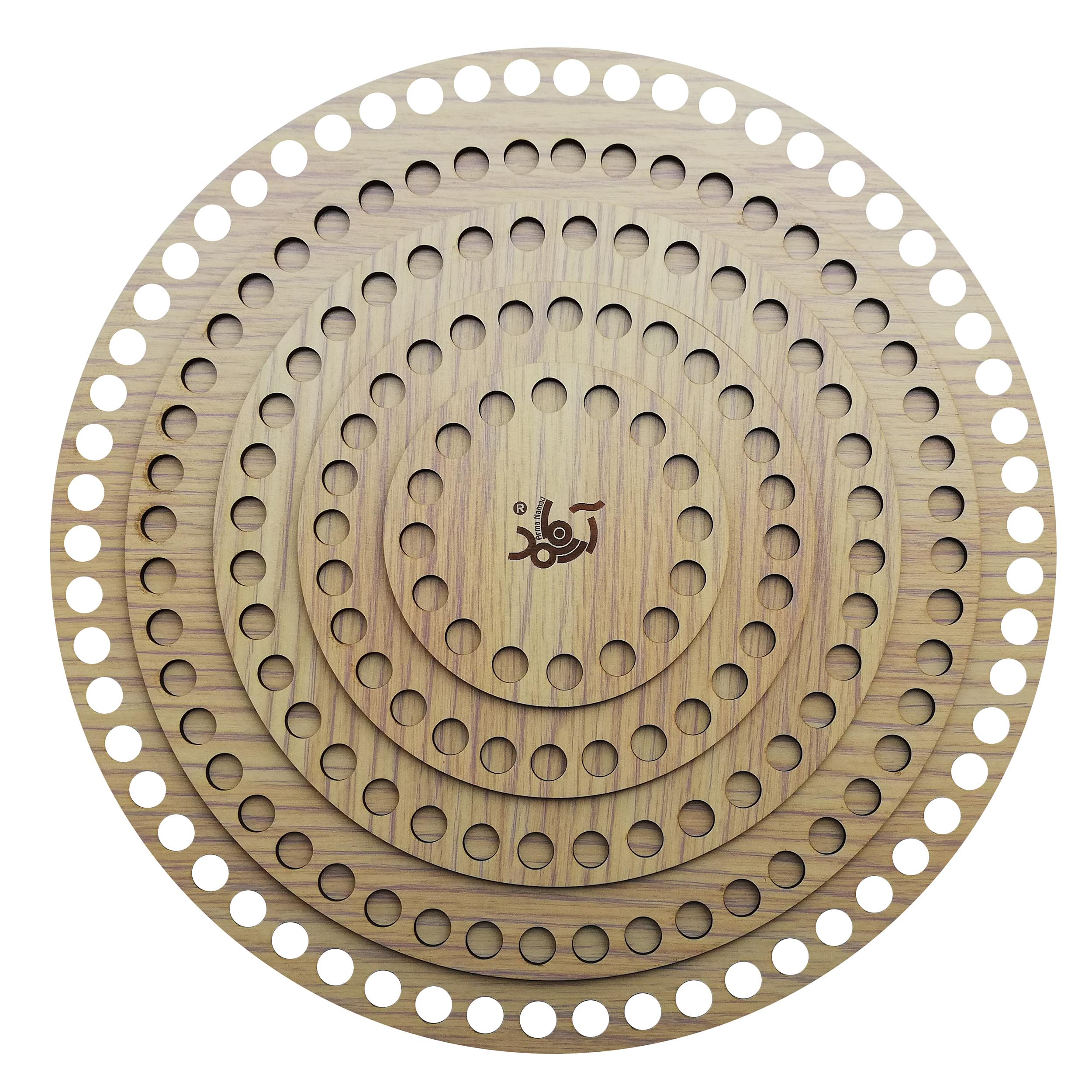 کفی تریکو بافی آرمانمد مدل دایره کد C55 بسته 5 عددی