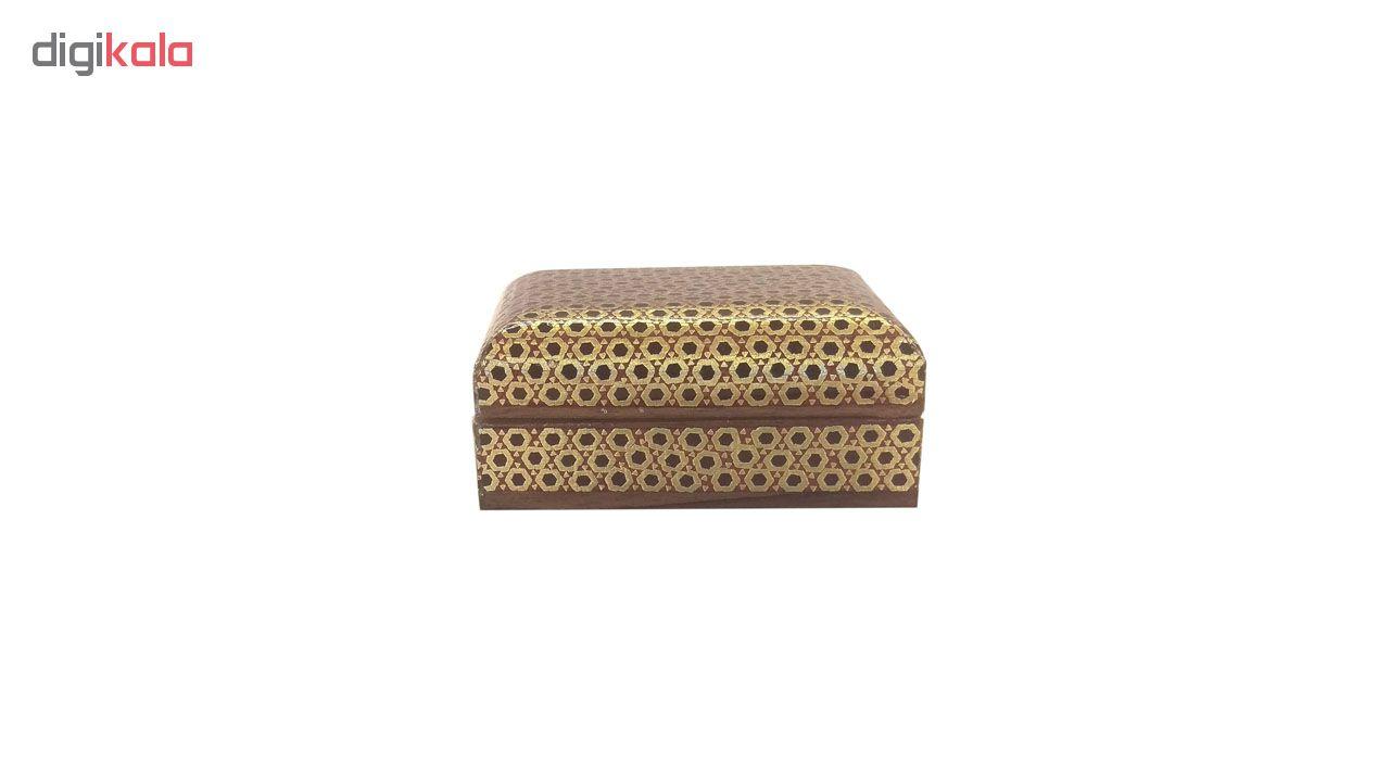 خرید                      جعبه خاتم لوح هنر طرح چهارگوش کد 1017 سایز 3×6×6