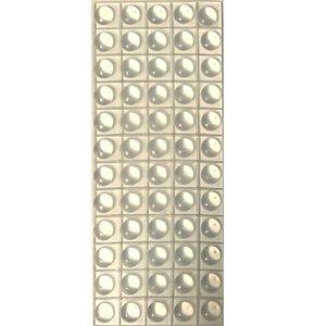 زیر شیشه ای میز و ضربه گیر درب و کشو لاستیکی قطر 1 سانت پشت چسب دار مدل d3  بسته 60 عددی