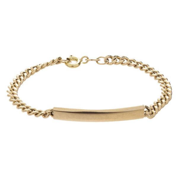 دستبند طلا 18 عیار گالری مرجان طرح کارتیه مدل 0872