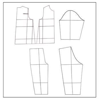 الگو خیاطی بالا تنه و شلوار خردسال متد مولر سایز 3 تا 4 سال