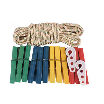 گیره لباس مدل X&L بسته 12 عددی به همراه طناب