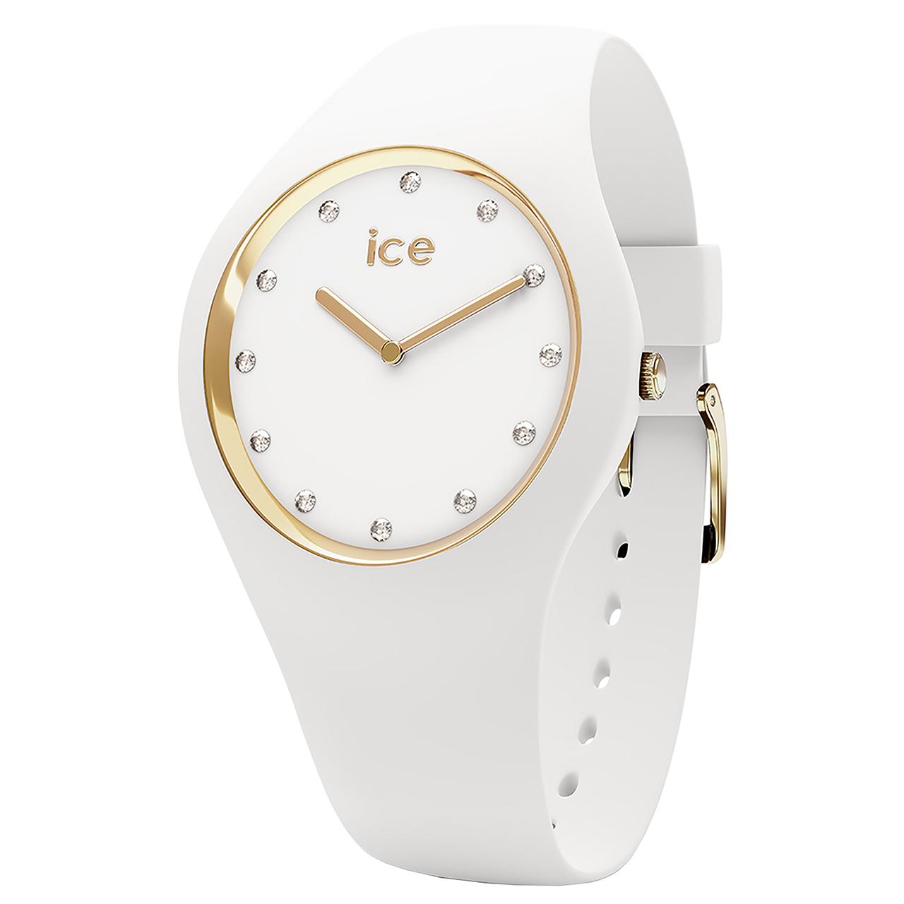 ساعت مچی عقربه ای آیس واچ مدل ICE COSMOS-WHITE GOLD-MEDIUM