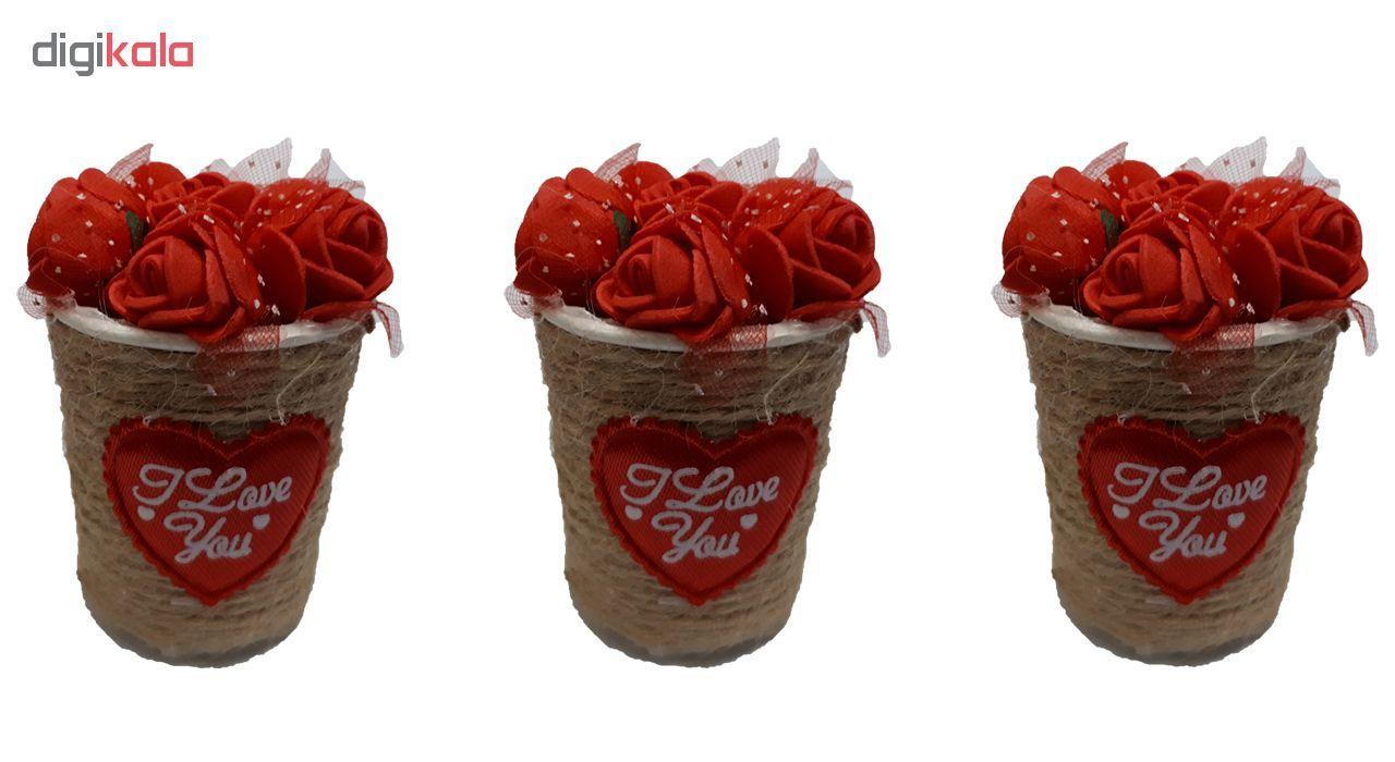 گلدان به همراه گل مصنوعی مدل h121 مجموعه 3 عددی main 1 1