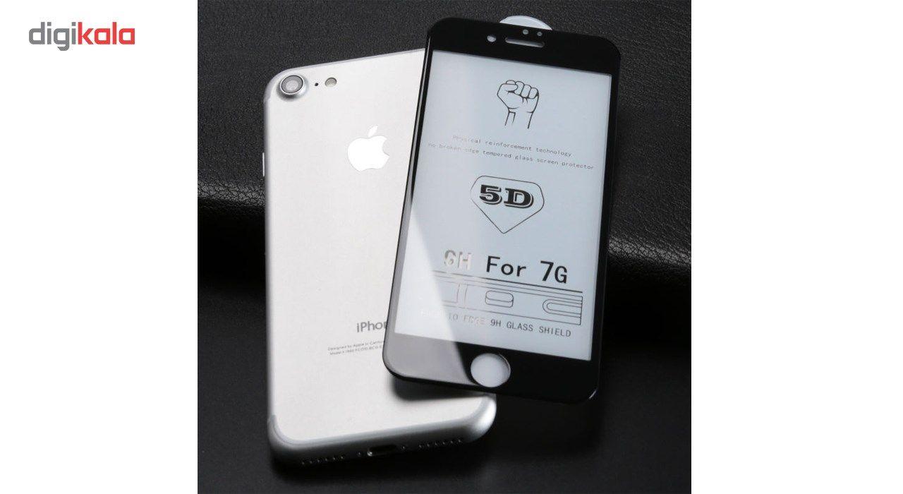 محافظ صفحه نمایش تمام چسب شیشه ای مدل 5D مناسب برای گوشی اپل آیفون 7 main 1 2