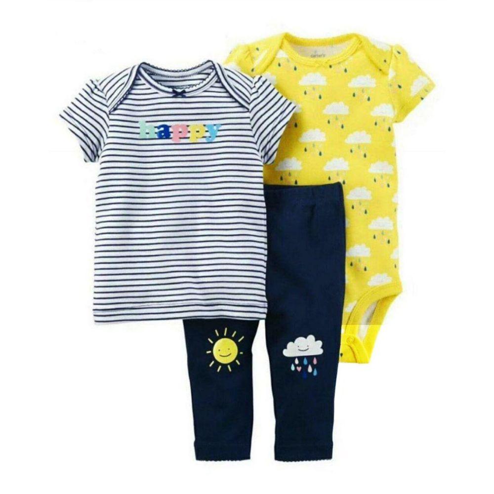 ست 3 تکه لباس نوزادی دخترانه کارترز کد 112