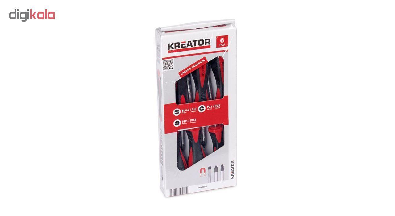 مجموعه 6 عددی پیچ گوشتی کریتور مدل KRT400001 main 1 3