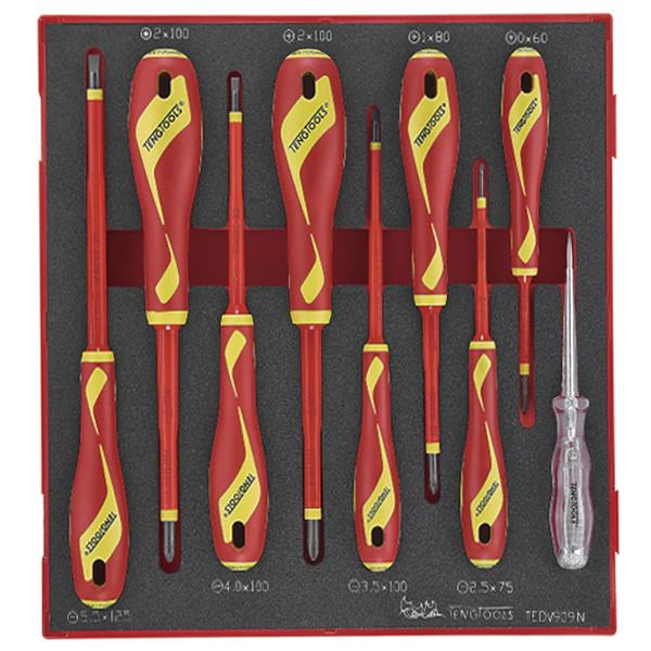 مجموعه 9 عددی پیچ گوشتی فشار قوی تنگ تولز کد 238400105