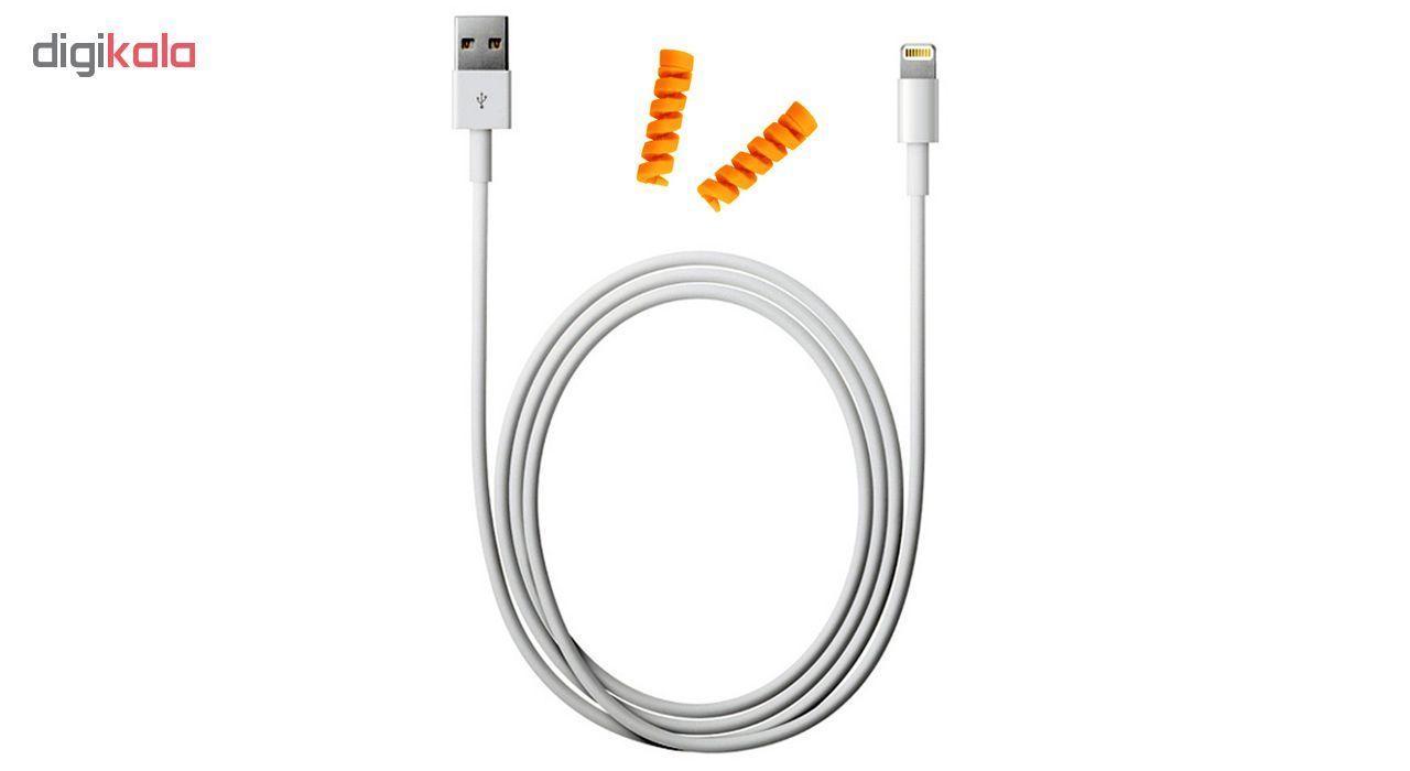 کابل شارژ آیفون USB به لایتنینگ مدل KL به طول 2 متر به همراه دو عدد محافظ کابل سیلیکونی main 1 5