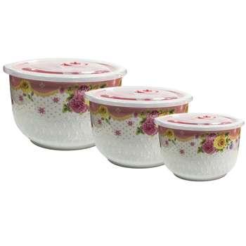 ظرف نگهدارنده مدل fresh bowl مجموعه 3 عددی