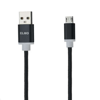 کابل  شارژ، انتقال اطلاعات و تبدیل USB به MicroUSB  المو مدل  X-S-N طول 1 متر