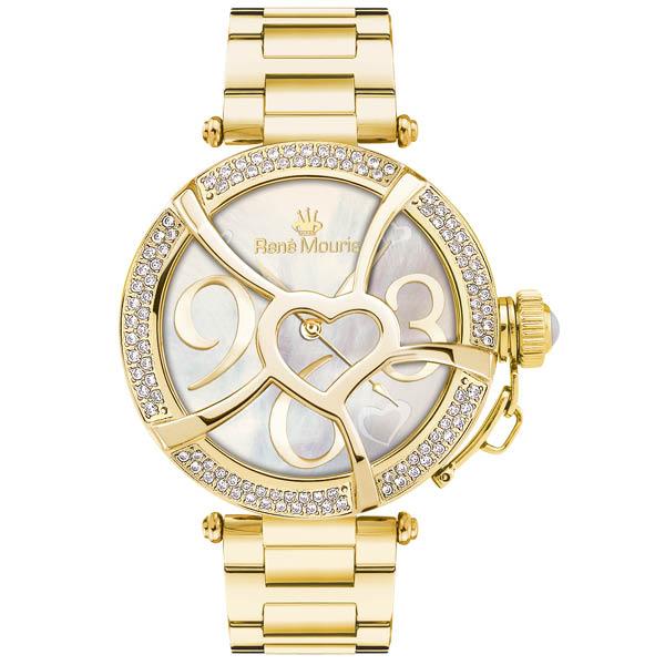 ساعت مچی عقربه ای زنانه رنه موریس مدل Coeur d Amour 50103