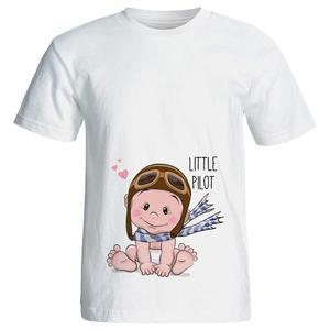 تی شرت بارداری طرح Little pilot کد 3966