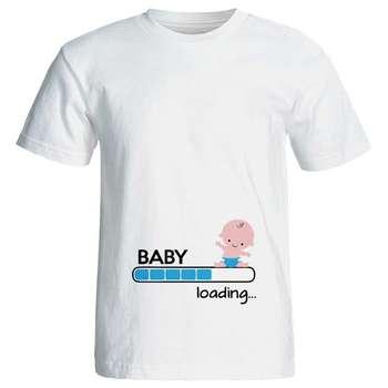 تی شرت بارداری طرح baby loading کد 3967
