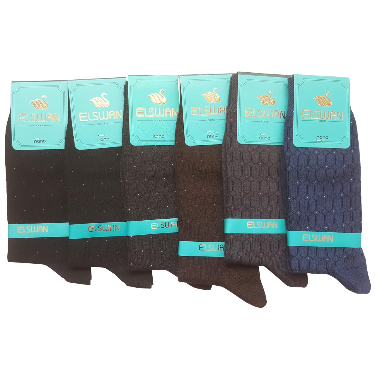 جوراب مردانه ال سون طرح مسکو کد PH22 مجموعه 6 عددی