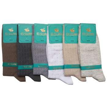 جوراب مردانه ال سون طرح مسکو کد PH23 مجموعه 6 عددی